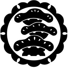 外雪輪に光琳三階松紋