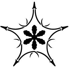 五つ折れ松葉に雪花紋