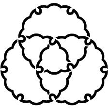 三つ組み雪輪紋