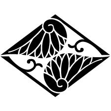 割り蔓葵菱紋