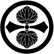 丸に剣二つ葵紋