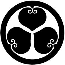 丸に三つ裏葵紋