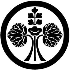 丸に変わり花立ち葵紋1
