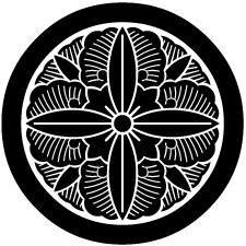 丸に変わり向こう花葵紋