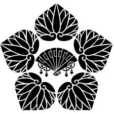 五つ葵に檜扇紋