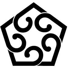 中陰五つ捻じ葵紋