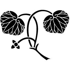 変わり花付き二葉葵紋
