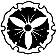 雪輪に三つ銀杏紋