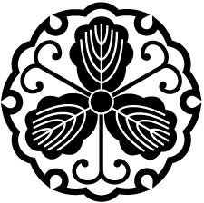 雪輪に三つ柏紋