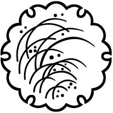 雪輪に芒紋