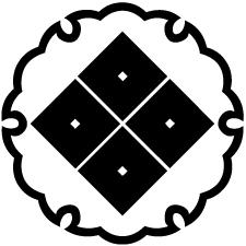 雪輪に隅立て四つ目紋