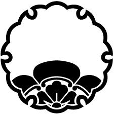 雪輪に覗き木瓜紋