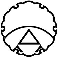 雪輪に覗き糸輪に三つ鱗紋