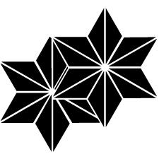 重ね麻の葉紋