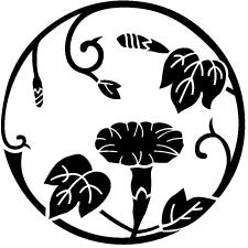 蔓丸に朝顔紋1