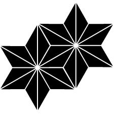 持ち合い麻の葉紋