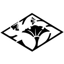 銀杏枝菱紋