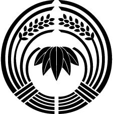 抱き稲に五枚笹紋