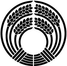 稲荷抱き稲紋