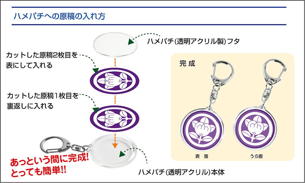 家紋キーホルダー手作りキット(3個セット)04